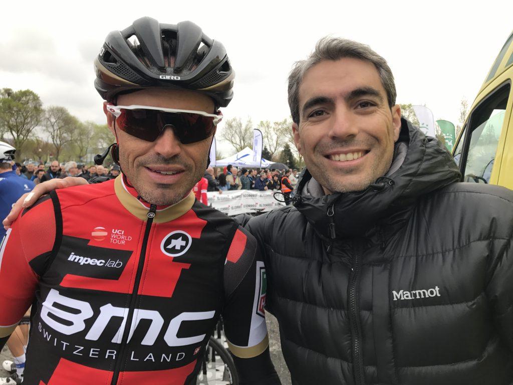 Con Samuel Sánchez