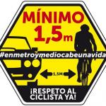 Conductor, respeta a los ciclistas