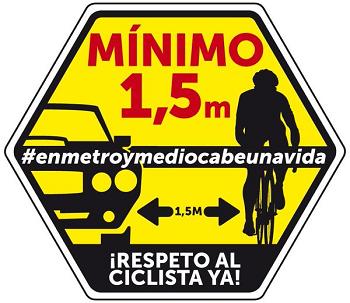 Respeto a los ciclistas